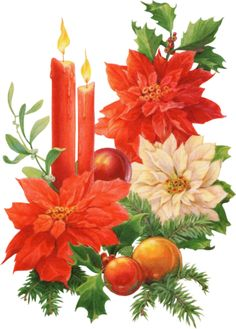 Poinsettia clipart christmas candle · com/chan Candles Seasonal and