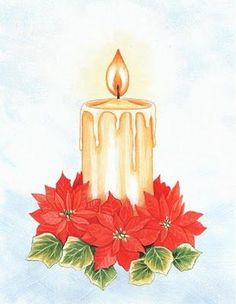 Poinsettia clipart christmas candle ART html CHRISTMAS CANDLE