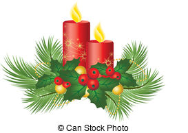 Poinsettia clipart christmas candle Clip 7 Christmas EPS Candles