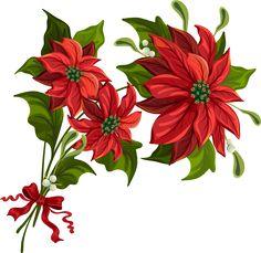Poinsettia clipart christmas candlelight Christmas  Printable Freebie Poinsettia