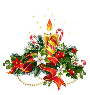 Poinsettia clipart christmas candlelight Pinterest Image on best Christmas