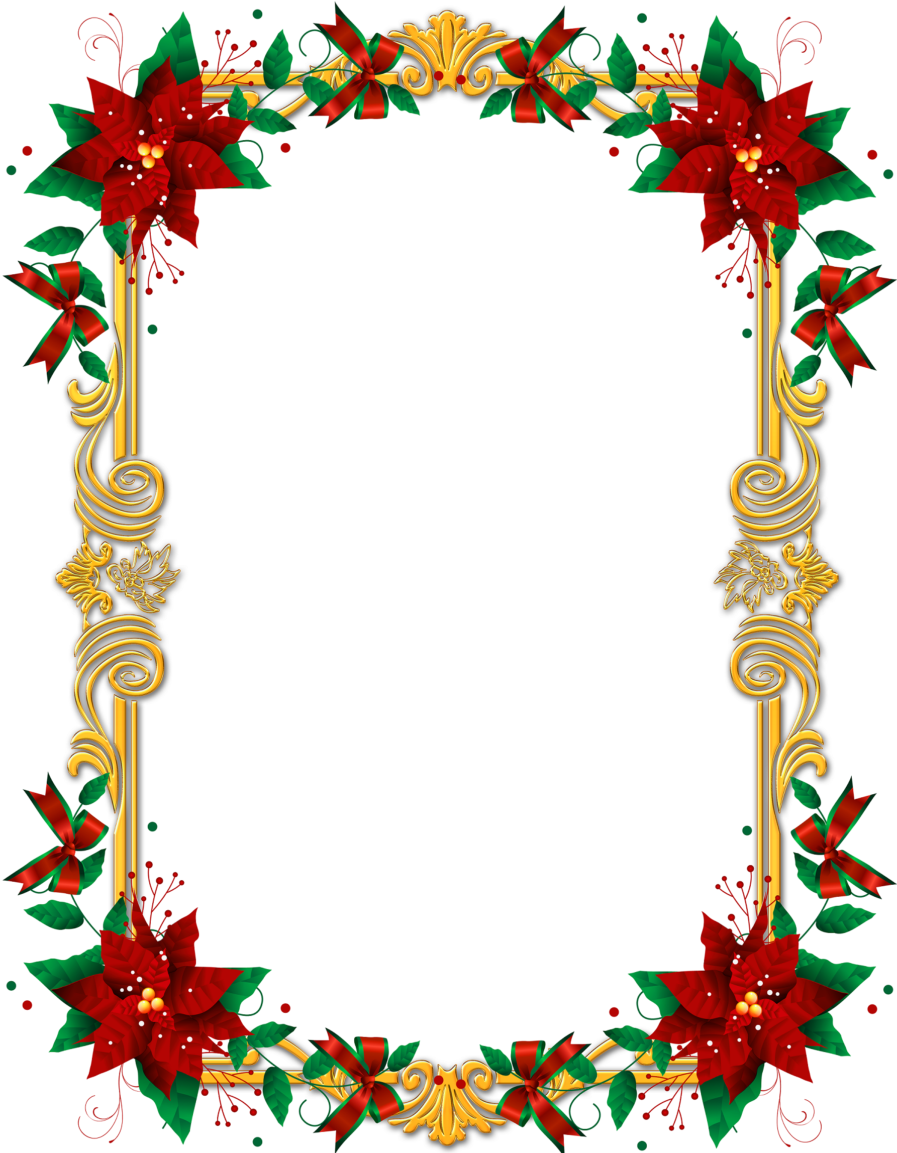 Poinsettia clipart christmas deco Frame poinsettia poinsettia  frame