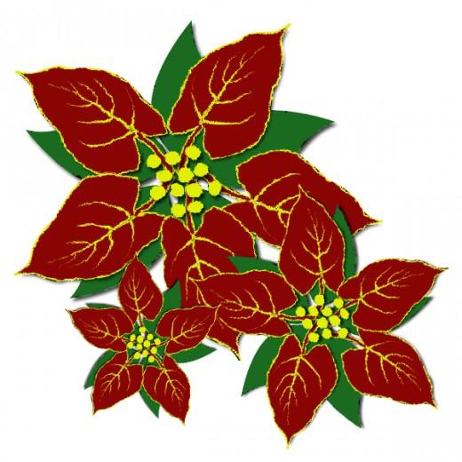 Poinsettia clipart christmas tree branches Poinsettia Cliparts Download Art Clip