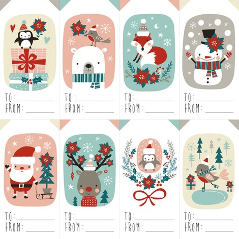 Poinsettia clipart christmas gift tag Christmas Rchristmas_gifttag_shop_preview animals gift tags