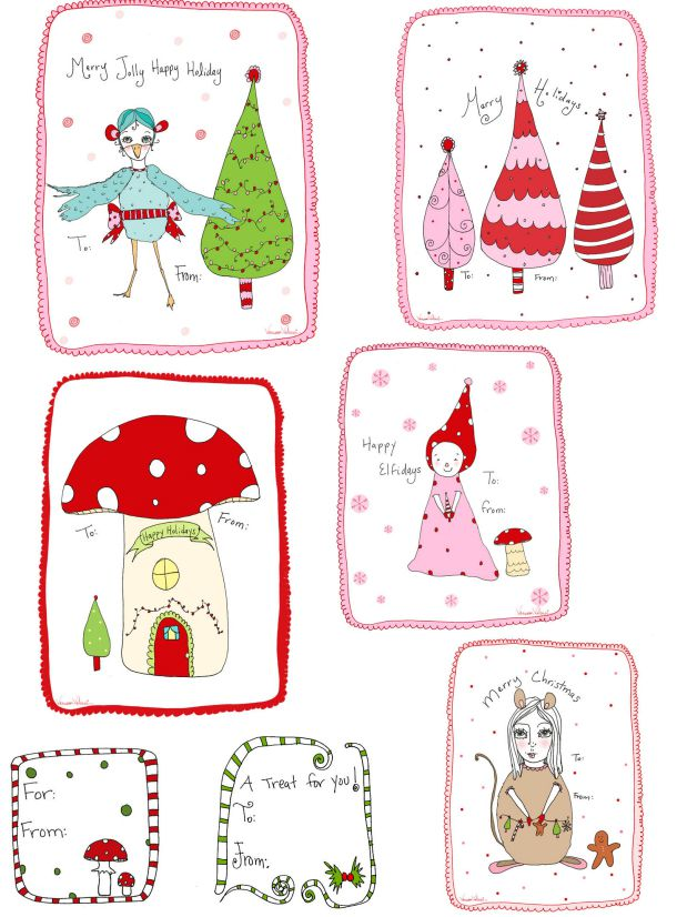 Poinsettia clipart christmas gift tag A Christmas Free Fanciful Twist