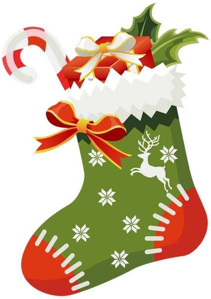 Poinsettia clipart christmas greens Images best Stocking Christmas Christmas