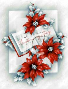 Poinsettia clipart christmas greeting Book Greetings  Flowers An