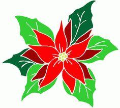 Poinsettia clipart christmas tree branches Poinsettia II Pinterest Christmas Jamie