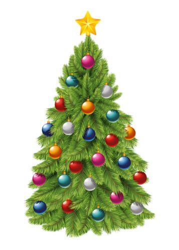 Poinsettia clipart christmas tree branches Alberi di on Natale Trees