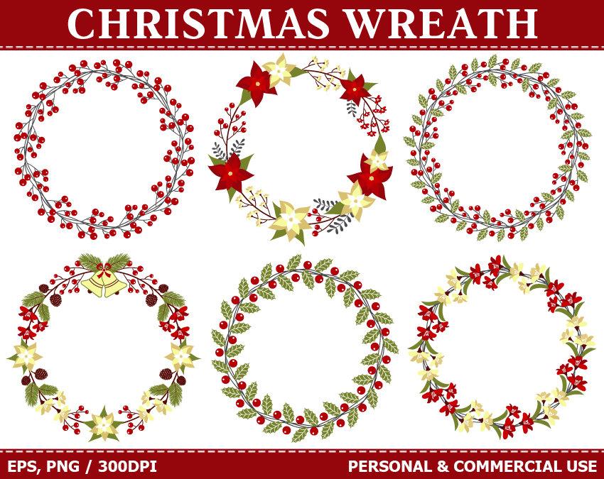 Poinsettia clipart christmas wreath Wreath Holly Clipart OFF Christmas