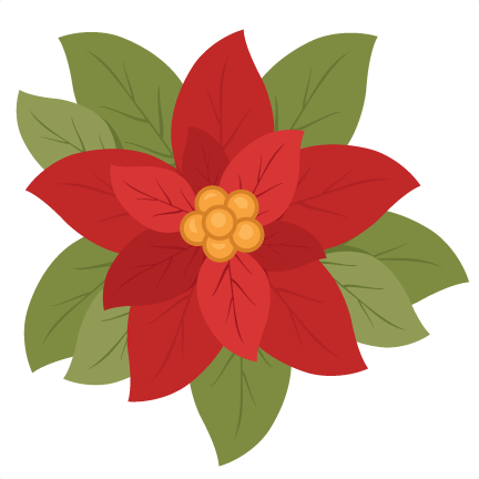 Poinsettia clipart cute Flower clip poinsettia clipart scrapbook