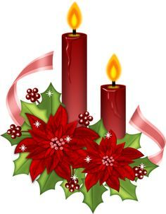 Poinsettia clipart cute Candles best Art images Pinterest