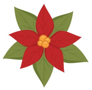 Poinsettia clipart cute Best sticker Pinterest Kate images