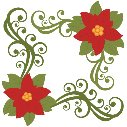 Poinsettia clipart cute Cuts christmas svg cut cut