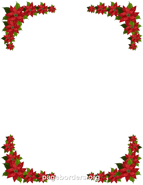 Poinsettia clipart horizontal flower border And border JPG PNG PNG