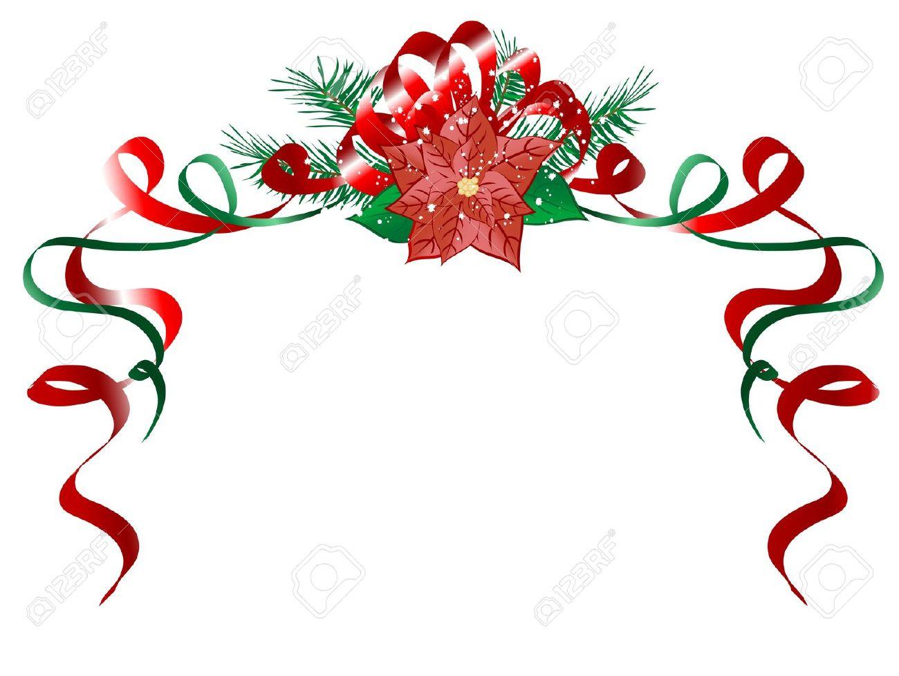 Poinsettia clipart horizontal flower border Horizontal Happy – (15) Poinsettia