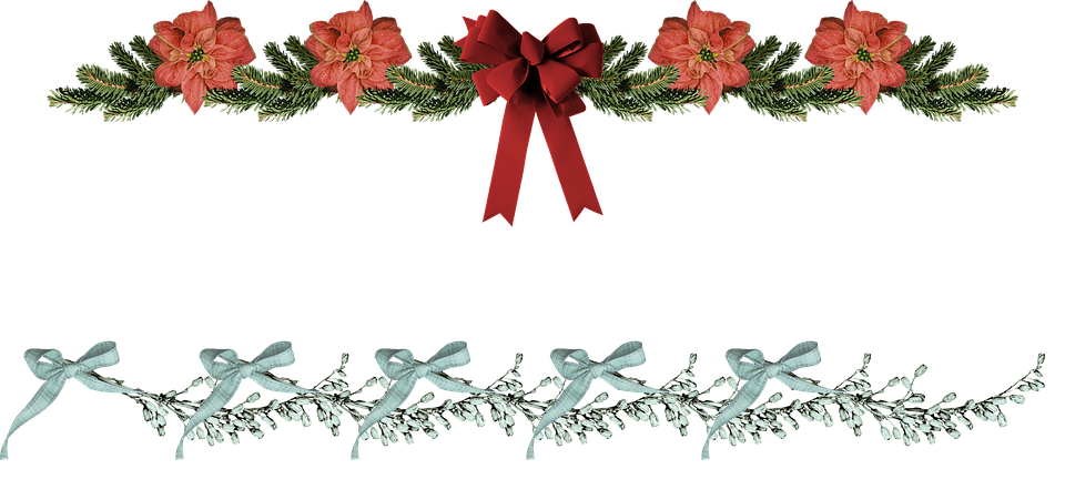 Poinsettia clipart horizontal flower border Horizontal Happy – (21) Poinsettia
