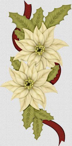 Poinsettia clipart noche buena Flor google dibujo noche com/morgana466/HolidayTrainScrap