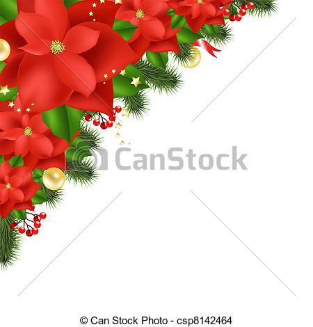 Poinsettia clipart noche buena White Red Isolated Vector Poinsettia