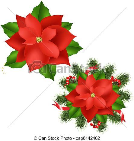 Poinsettia clipart noche buena Poinsettia csp8142462 Illustration Poinsettia Vector