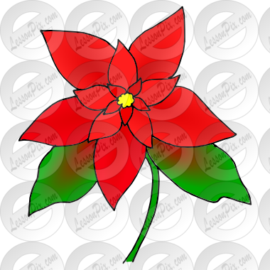 Poinsettia clipart christmas tree branches Classroom / Great  Therapy