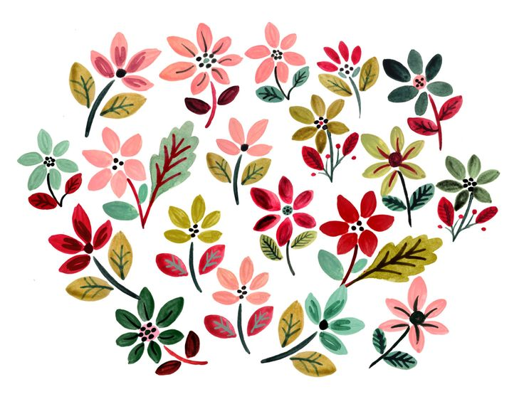 Poinsettia clipart printable On christmas ornaments 44 watercolor