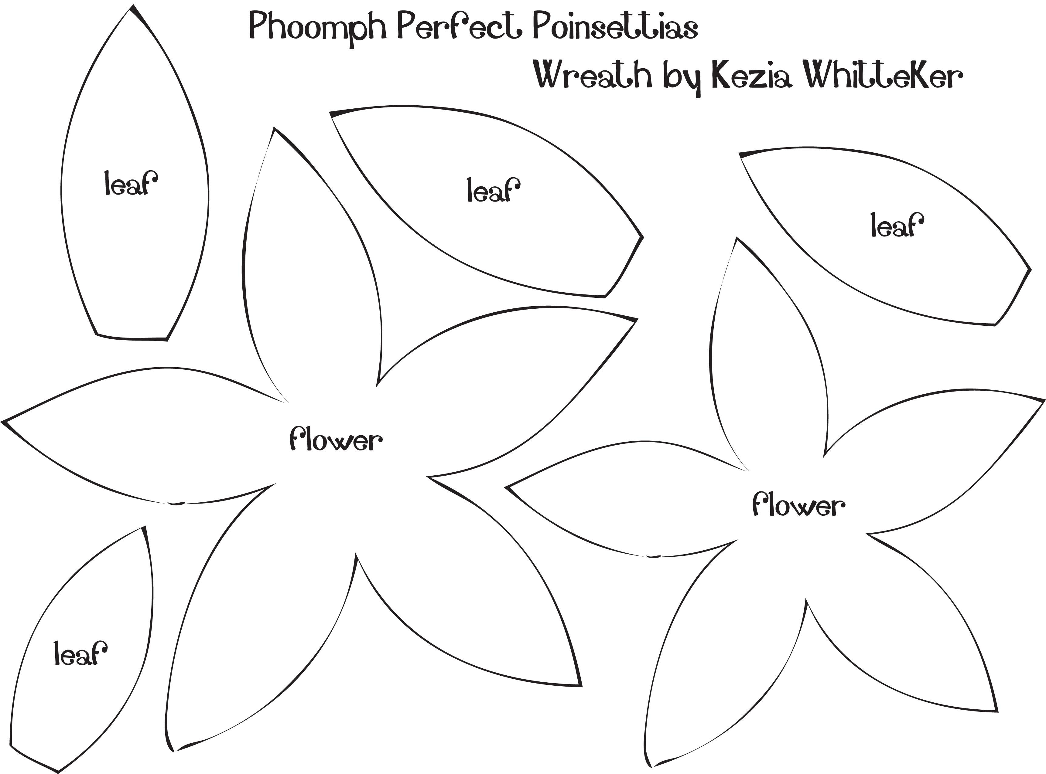 Poinsettia clipart printable Template  Poinsettia com perfect
