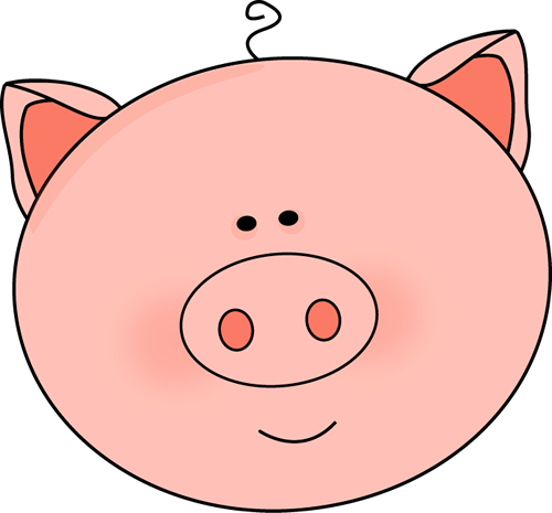Simple clipart pig #5