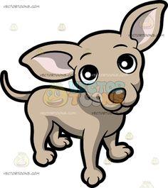 Pointed Ears clipart cute cartoon Friendly Chihuahua A Cartoon And