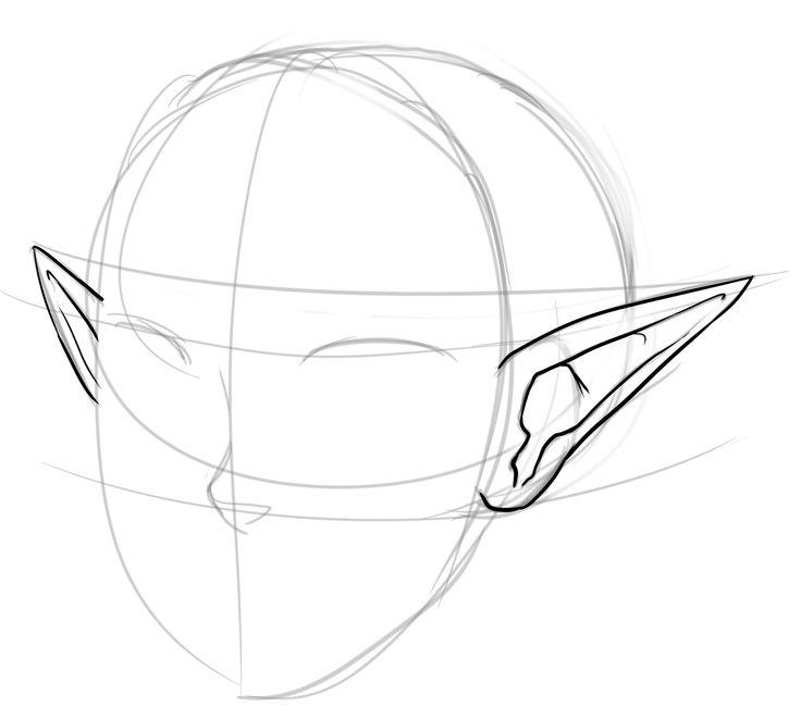 Drawn fairy elf ear
