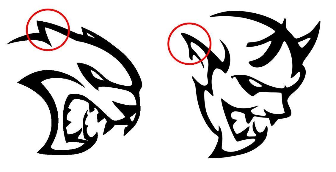 Dodge clipart emblem Behind Striking logo Demon Similarities