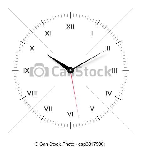 Pointer clipart clock Face black for face White