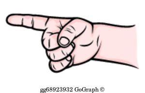 Pointer clipart number 1 Stock finger sign number