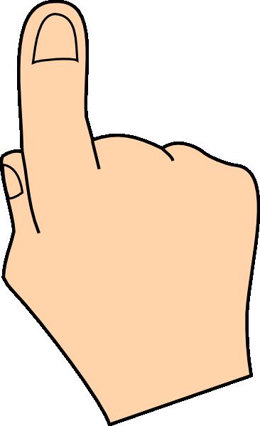 Pointer clipart one Clker art Finger Art at