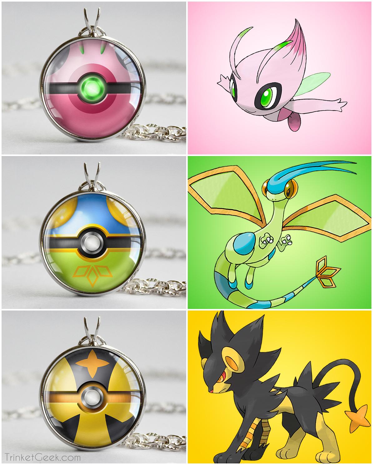 Pokeball clipart shiny Themed SHINY Pkmn pendants Pokeball