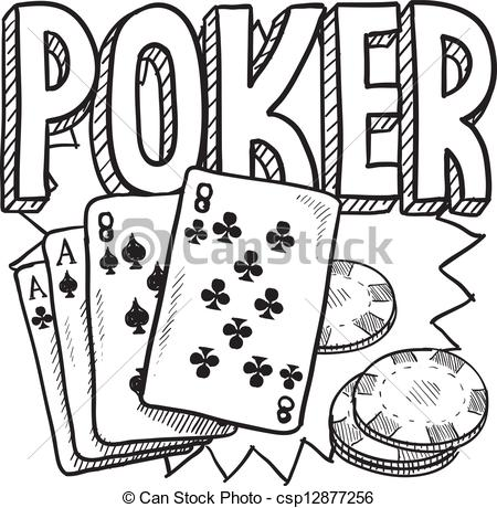 Poker clipart card game Sketch Clipart style card Doodle
