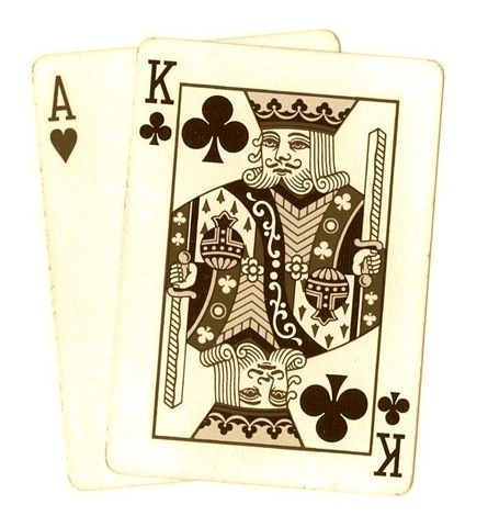 Poker clipart card game Ace sepia from Holiday Art