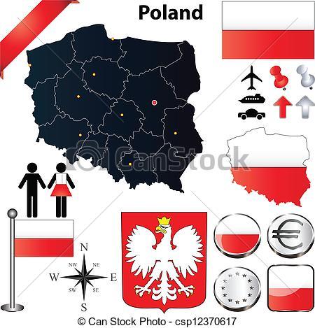 Poland clipart Art Poland flags map