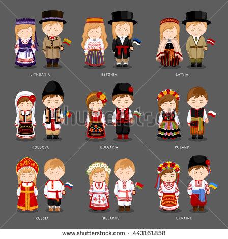 Poland clipart dress National Bulgaria Moldova Lithuania Latvia