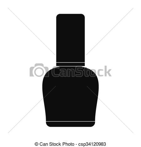 Poland clipart monochrome Icon isolated black bottle simple