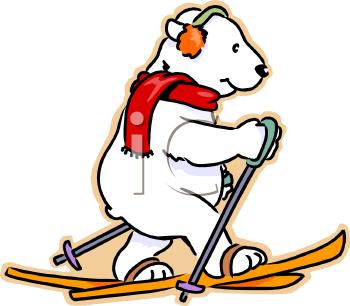 Skiing clipart polar bear Bear  Black Art Panda