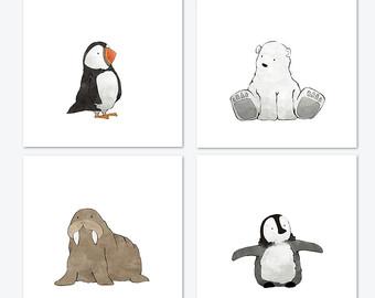 Arctic clipart adaptation Prints Puffin Animal Polar Winter