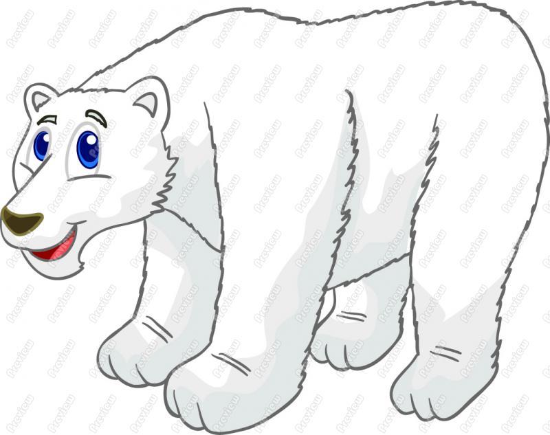 Cartoon clipart polar bear Polar  Cartoon Bear