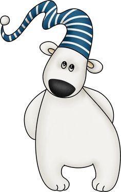 Winter clipart polar bear CartoonChristmas Polar Mis ClipartClip Clip