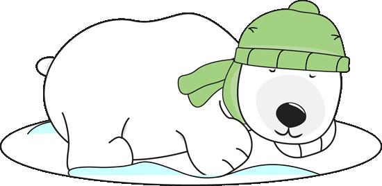 Winter clipart polar bear Winter Polar Clip the Sleeping