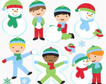 Snow clipart snow day Digital clipart Boys snow Snow