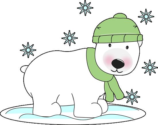 Winter clipart polar bear Clip Winter Art Image Polar