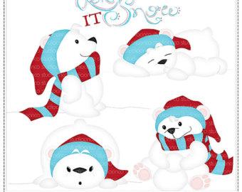 Winter clipart polar bear Clip Polar Art Scrapbook 2