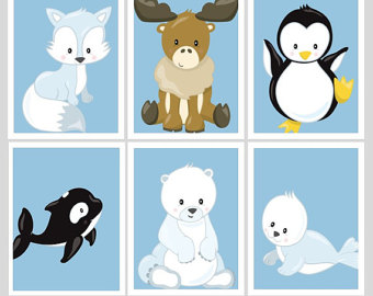 Polar Fox clipart arctic seal Animals Fox fox Art Seal