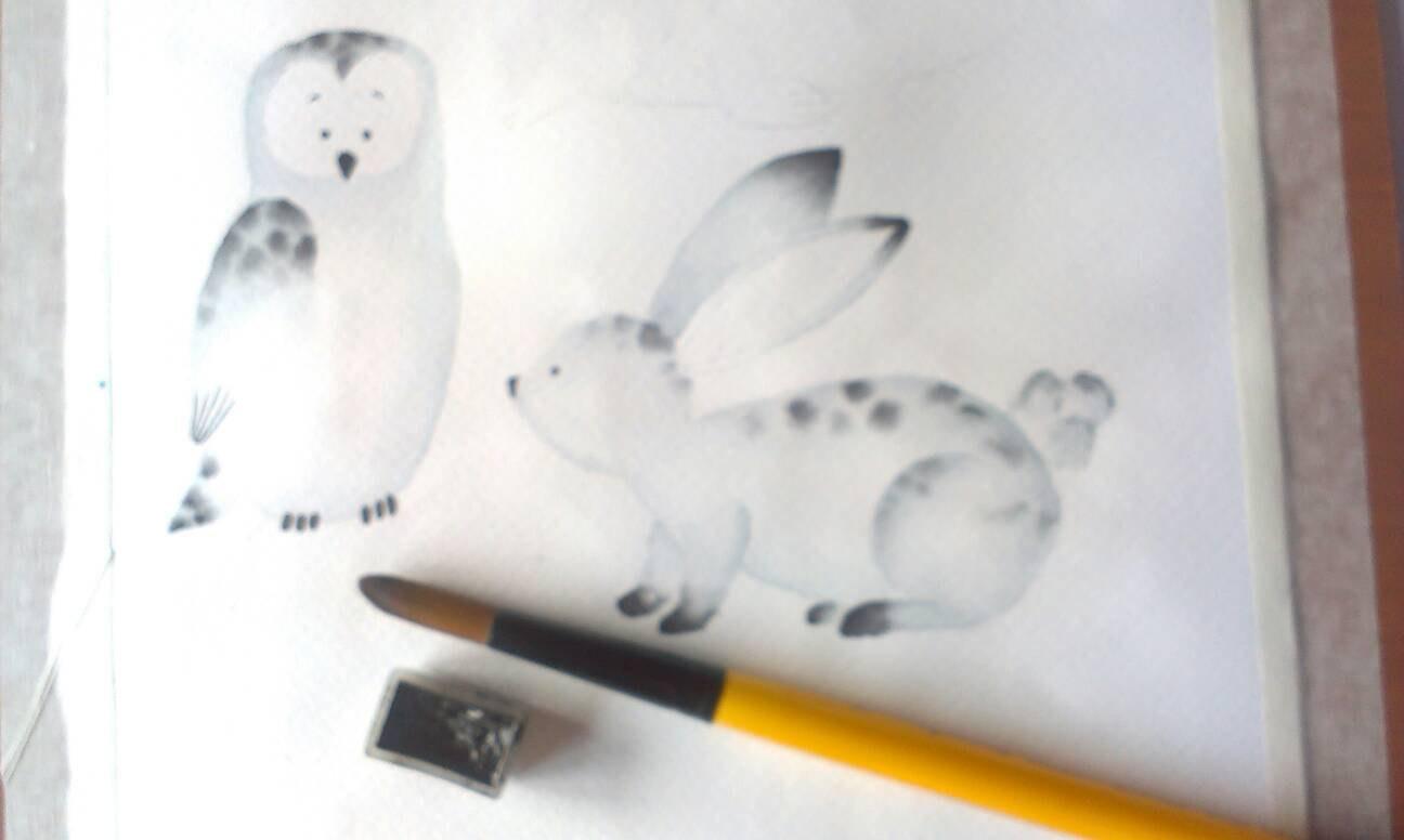 Polar Fox clipart artic Animals Polar Watercolor animals White